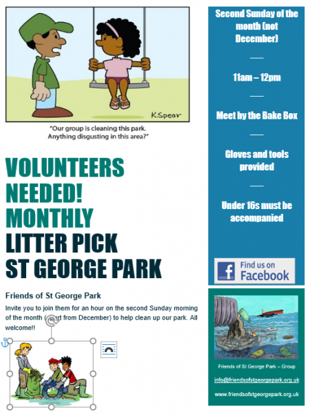 Monthly Litter Pick - Second Sunday of the month 11am-12pm