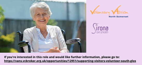 Befrienders/Supporting Visitors Volunteers for 2 Care Units in Thornbury and Yate